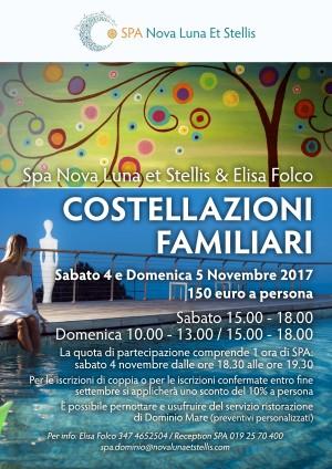 """Sabato 4 e domenica 5 Novembre: """"Costellazioni Familiari"""" con Elisa Folco"""
