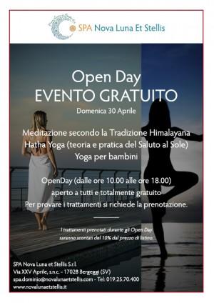 Open Day- Evento gratuito 30 Aprile