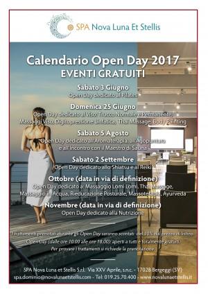 Calendario Open Day 2017