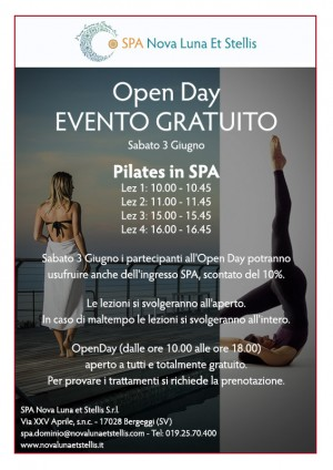 Open Day- Evento gratuito 3 Giugno