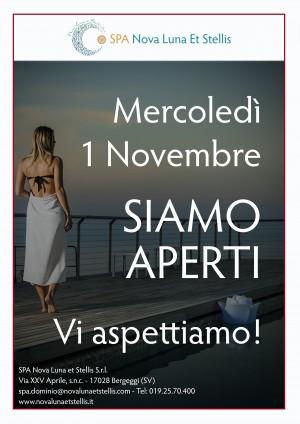 Mercoledì 1 novembre SIAMO APERTI!! Vi aspettiamo!!