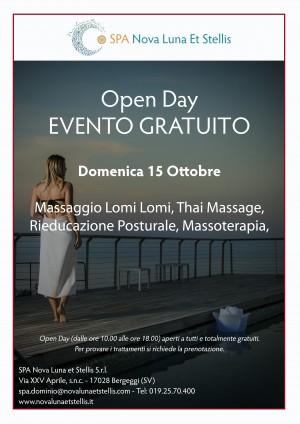 Domenica 15 Ottobre Open Day dedicato al Massaggio Lomi Lomi, al Thai Massage, alla Rieducazione Posturale e alla Massoterapia.
