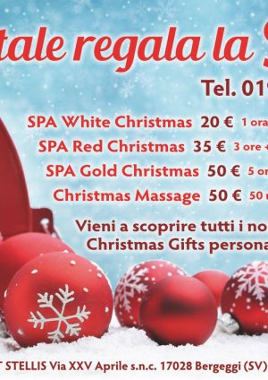A Natale regala la SPA!! A partire da 20 euro!!