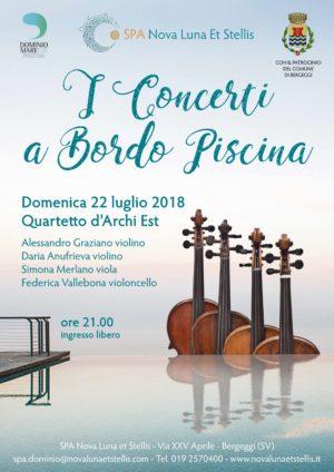 I Concerti a Bordo Piscina: 22 luglio e 5 agosto