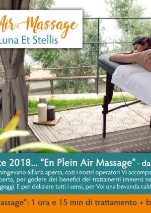 """Novità dell'estate 2018… """"En Plein Air Massage"""""""